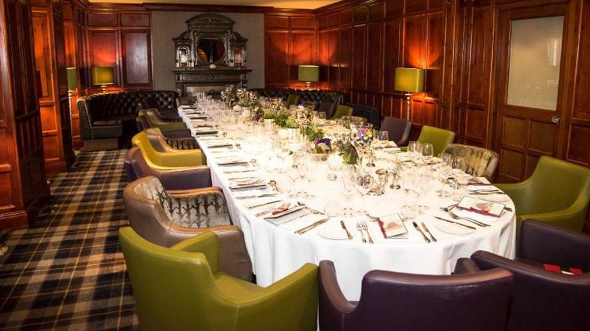 Private dinner at Fonab Castle - a delightful Perthshire event venue