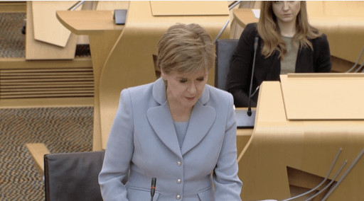 First Minister in Holyrood